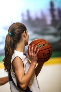 Girl athlete with anorexia