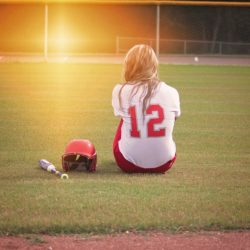 Teen female athlete struggling with anorexia