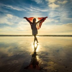 Woman in Movement Therapy and showing Gratitude in Eating Disorder Recovery