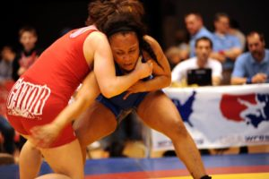 Women athletes sports and wrestling