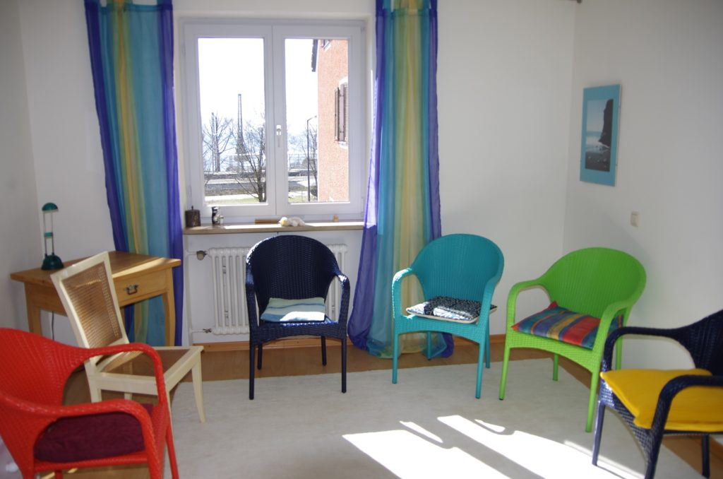 Chairs in a circle for group therapy