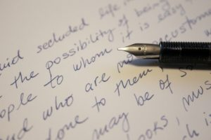Poetry used as part of effective coping tools
