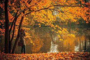 Woman by the lake