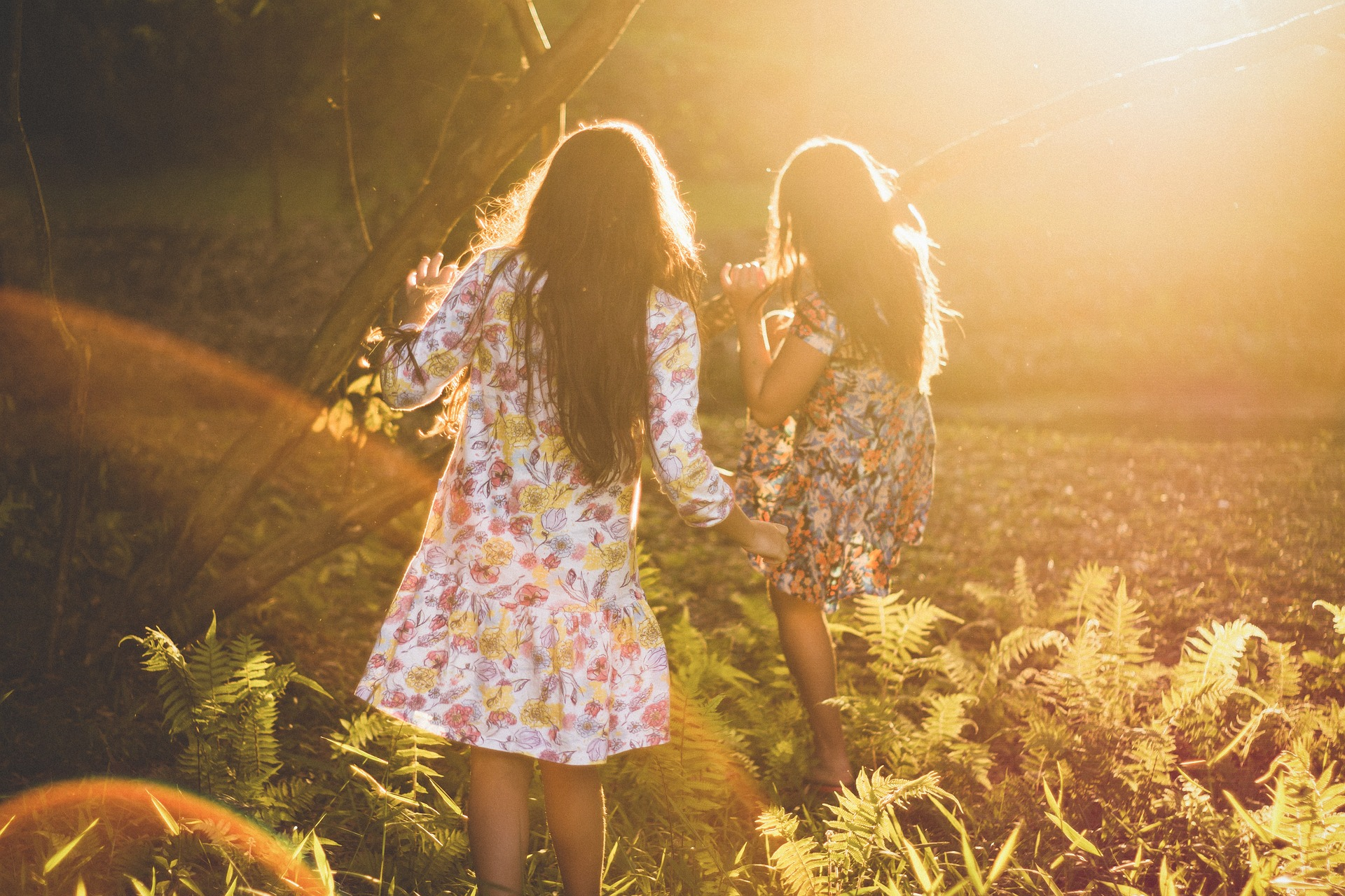 Two girls standing in the sun on a farm battling Anorexia