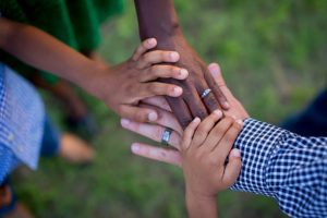 Image of family hands fighting Substance use and eating disorders