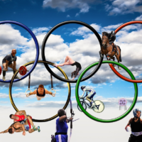 Olympic Athletes in the Olympic Rings