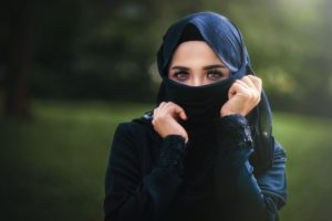Arabian woman taking Eating Disorder Test