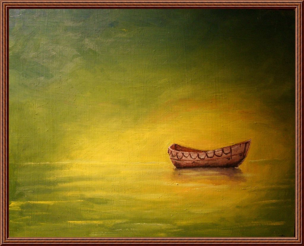 Eating Disorder Hope Art Gallery boat on yellow sea