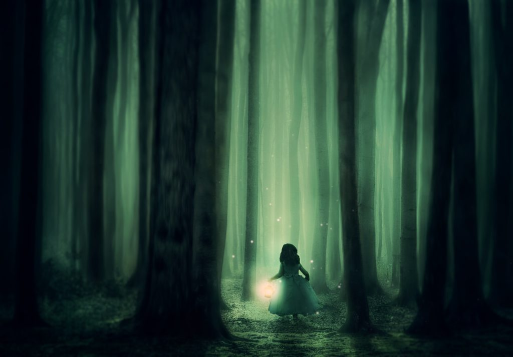 Image of lady in a forest for Karla Mosley blog