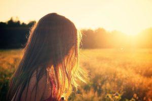 Girl thinking about Spirituality