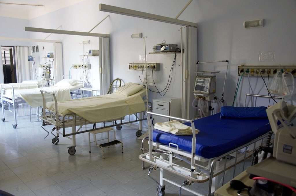 ER Exam Area with Hospital Beds