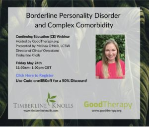 Continuing Education Event on Borderline Personality Disorder