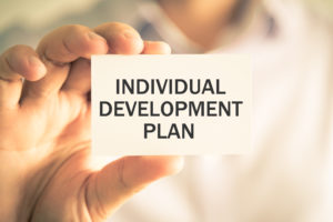 Image of card with individual development plan written by Eating Disorder Solutions