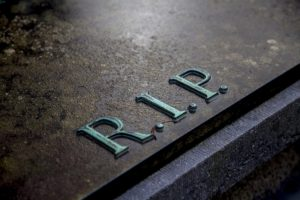 Grave with RIP