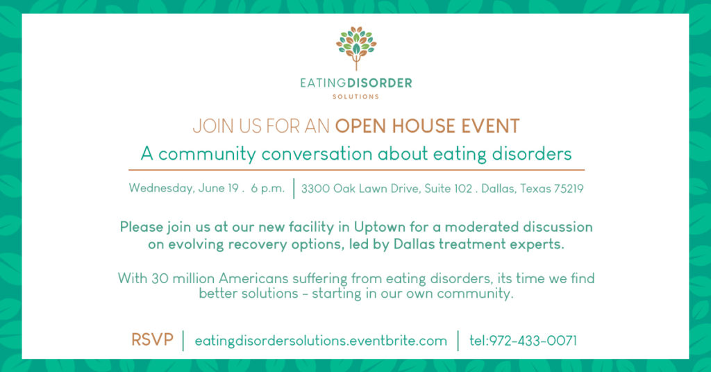 Eating Disorder Solutions Open House Invitation