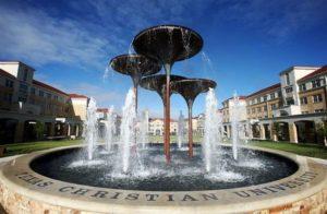 TCU Frog Fountain