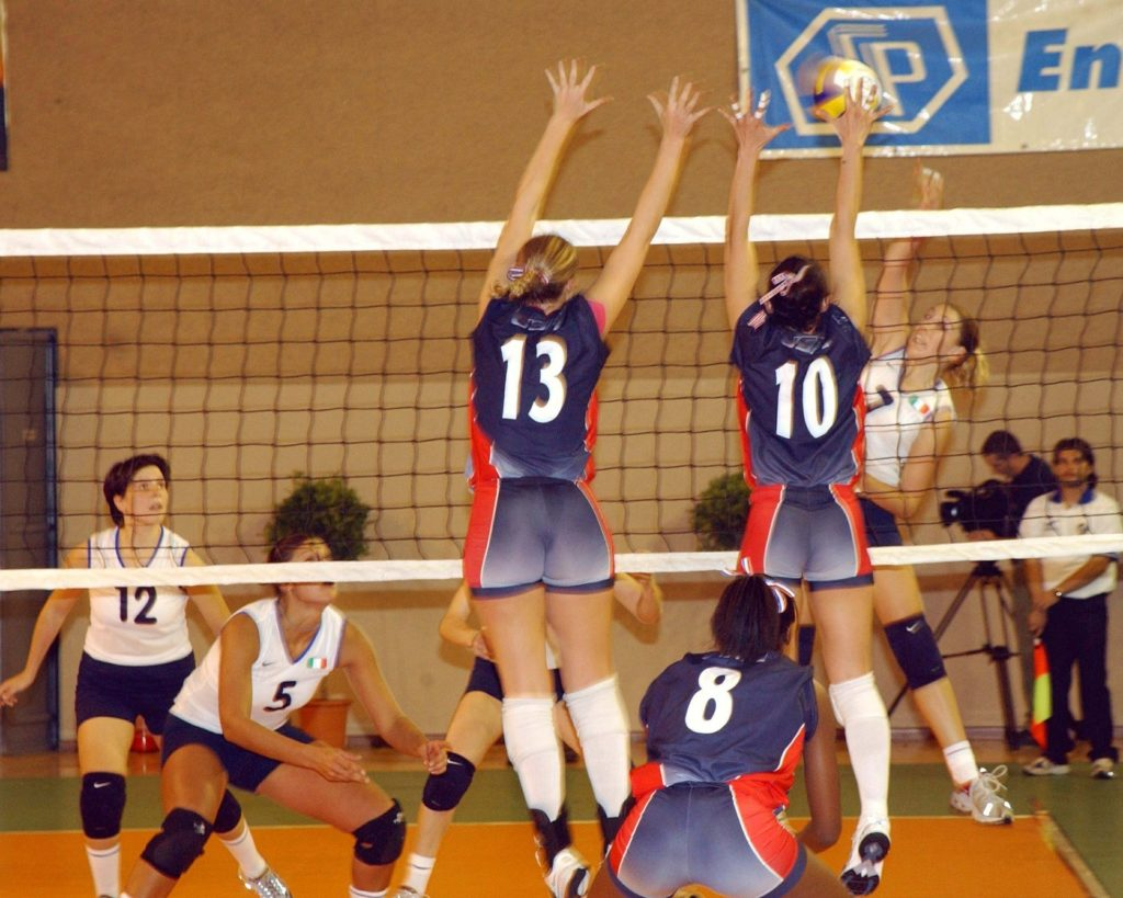 Girl's College Volleyball Team