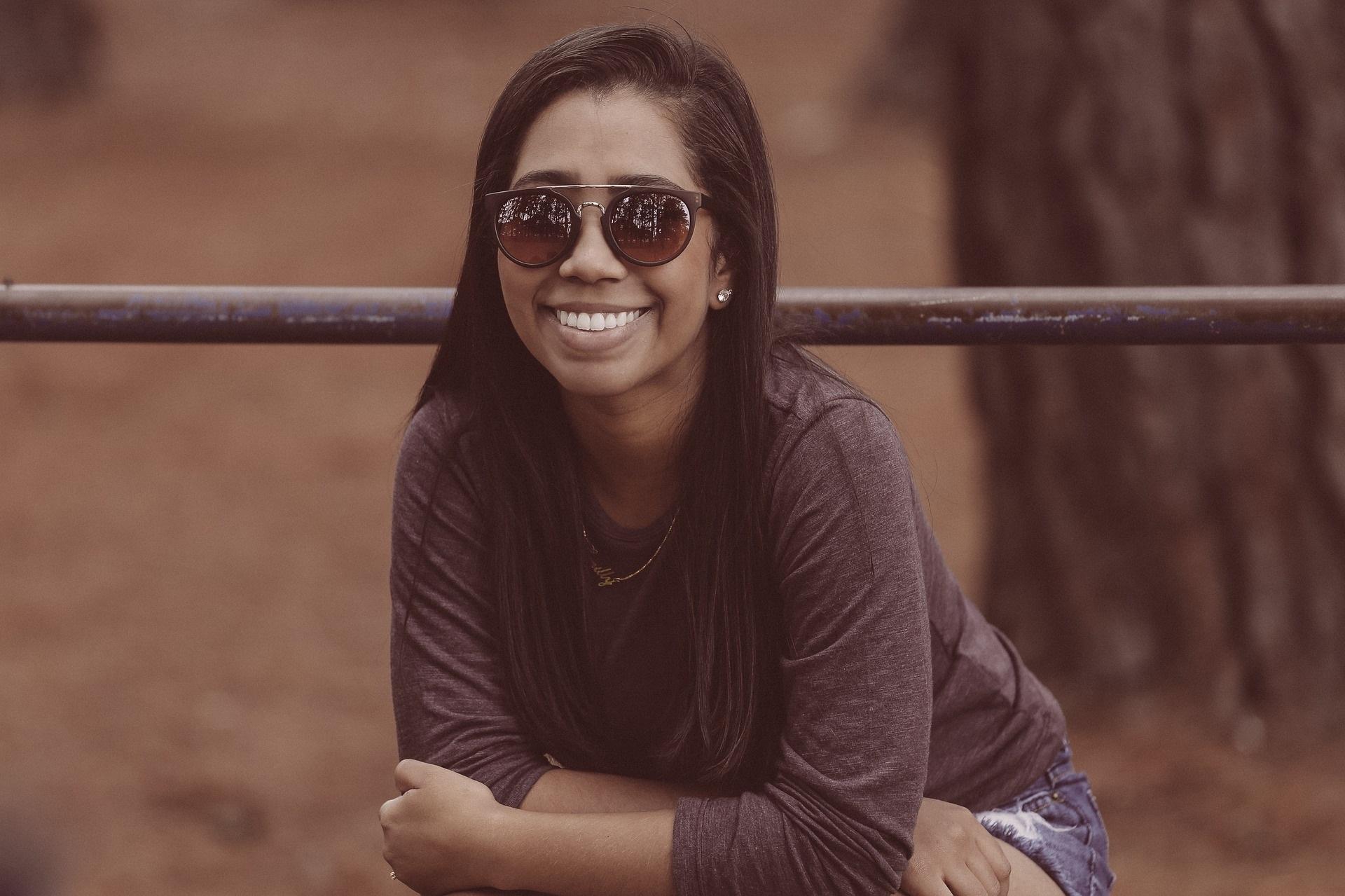 African American Black Woman in Sunglasses