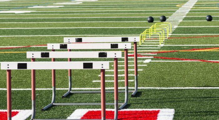 Hurdles on HS Track