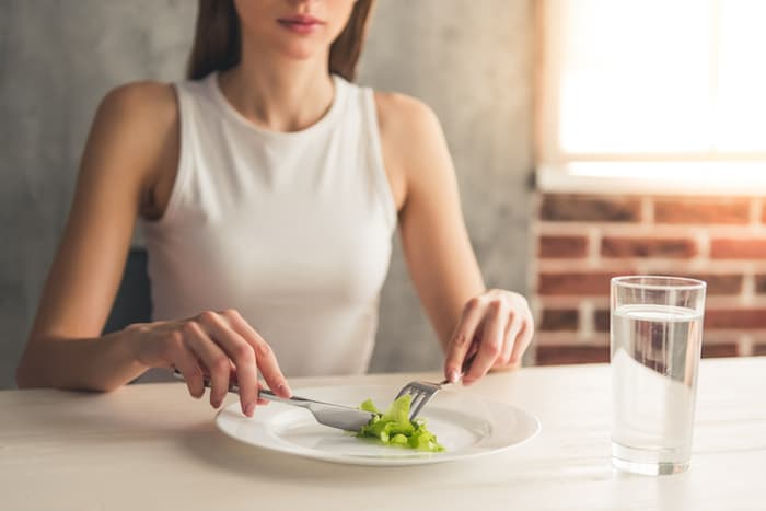 Eating a Tiny Portion on a Plate