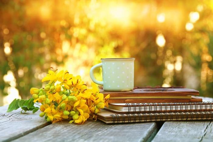 Coffee, tea and journal